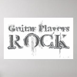 Guitar Players Rock Poster