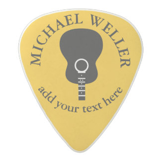guitar-player's yellow cool acetal guitar pick