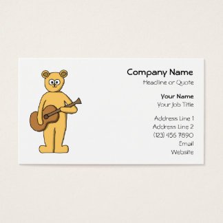 Guitar Playing Bear. Business Card