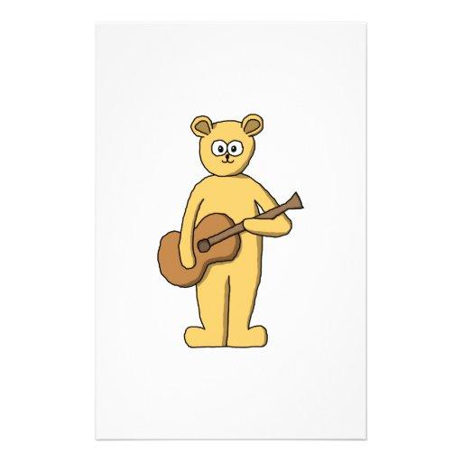 Guitar Playing Bear. Flyer Design