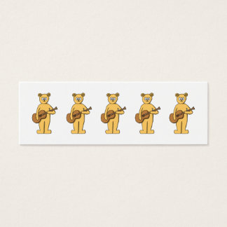 Guitar Playing Bear. Mini Business Card