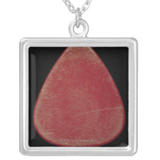 Guitar Plectrum Silver Plated Necklace