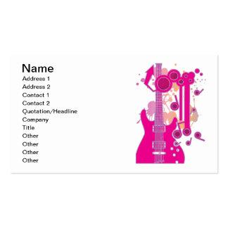 GUITAR-POP TUNES BUSINESS CARD TEMPLATE