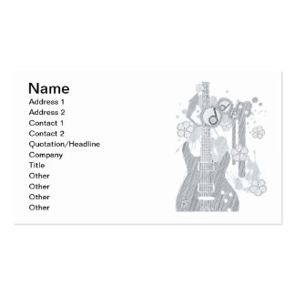 GUITAR-POP TUNES PACK OF STANDARD BUSINESS CARDS