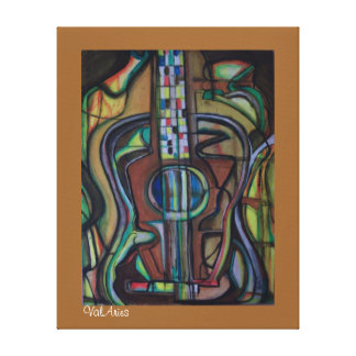 Guitar Print on Stretched Canvas by ValAries Gallery Wrap Canvas