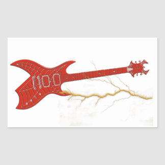 Guitar Rectangular Stickers