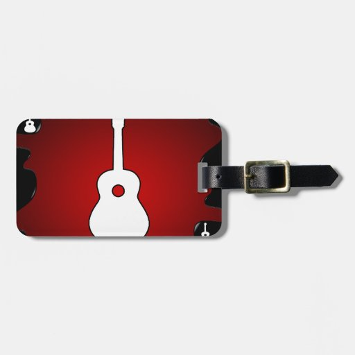 GUITAR RED BACKGROUND PRODUCTS TRAVEL BAG TAGS