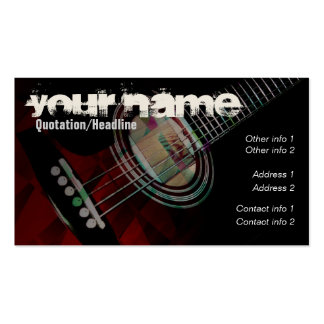 "GUITAR ""Redtrax"" Business card"