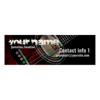GUITAR Redtrax Small Business card