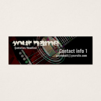 "GUITAR ""Redtrax"" Small Business card"