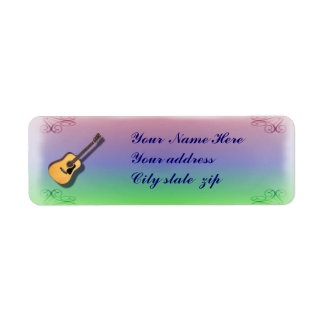 GUITAR-RETURN ADDRESS LABEL