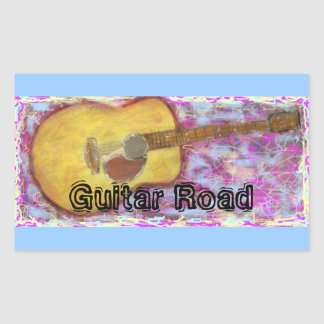 Guitar Road Rectangle Stickers