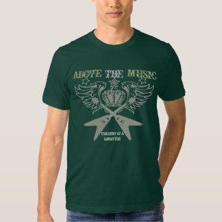 guitar rock, above the music t-shirts
