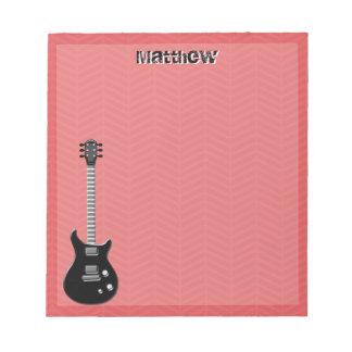 Guitar Rock Star Notepad