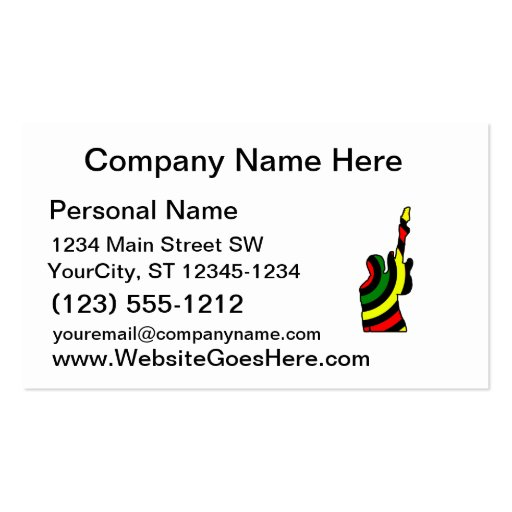 guitar rocks rasta holding up electric business card