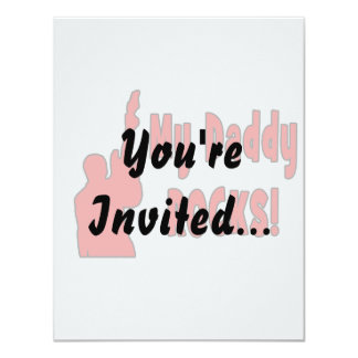 guitar rocks red holding up electric daddy rock custom invite