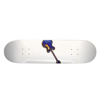 Guitar Semi Hollow Simple Blue Graphic Custom Skate Board