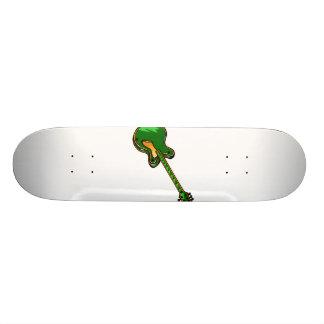 Guitar Semi Hollow Simple green Graphic Skate Board Deck