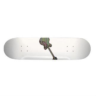 Guitar Semi Hollow Simple Psychadelic Graphic Skateboard
