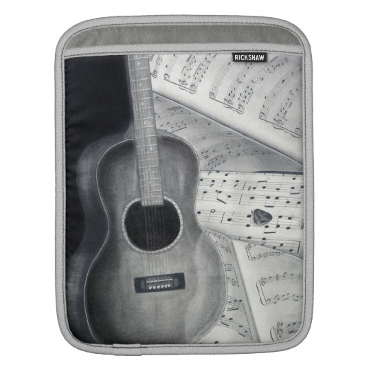 Guitar & Sheet Music iPad Sleeve