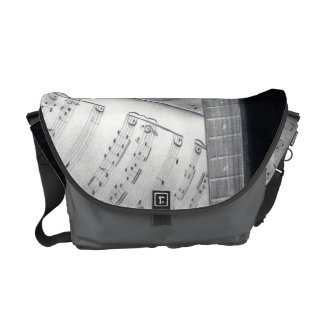 Guitar & Sheet Music Messenger Bag