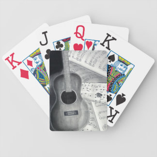 Guitar & Sheet Music Playing Cards