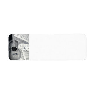 Guitar & Sheet Music Return Address Labels