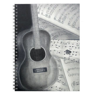 Guitar & Sheet Music Spiral Notebook