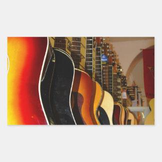 Guitar Shop Rectangular Sticker