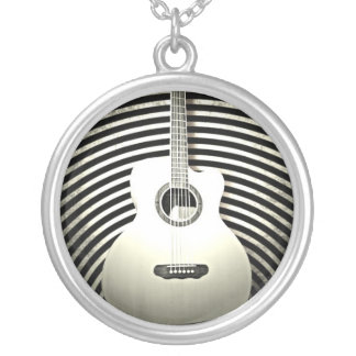 Guitar Silver Plated Necklace