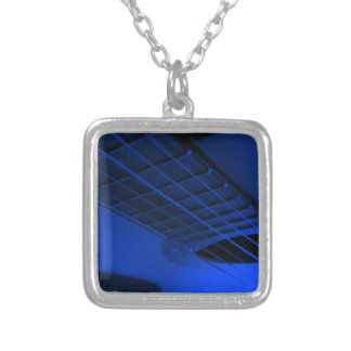 Guitar. Silver Plated Necklace