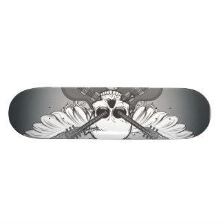 Guitar skull tabla de skate