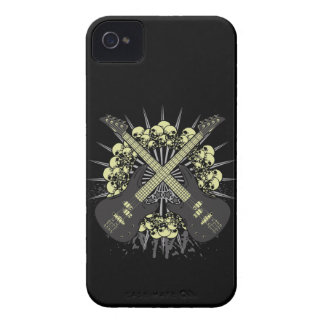 Guitar Skulls Rock Music iPhone4 iPhone4s Case