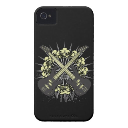 Guitar Skulls Rock Music iPhone4 iPhone4s Case iPhone 4 Cases
