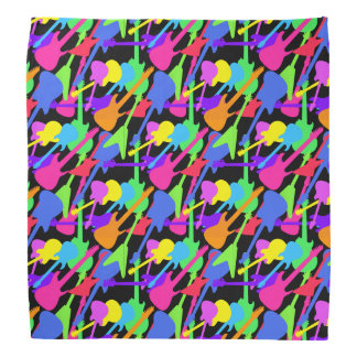 Guitar Splash Pattern Kerchief