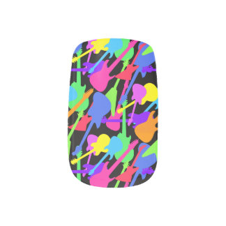Guitar Splash Pattern Nail Art