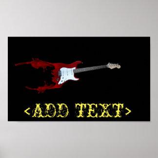 Guitar Splash Poster
