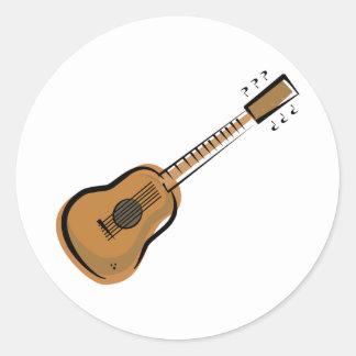 guitar round stickers