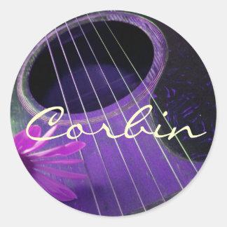 Guitar stickers for Corbin Round Sticker