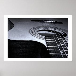 Guitar Strings BW Poster