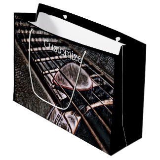 Guitar Strings In Leather Large Gift Bag