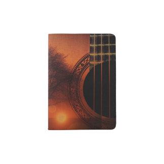 Guitar Sunset Novelty Passport Holder