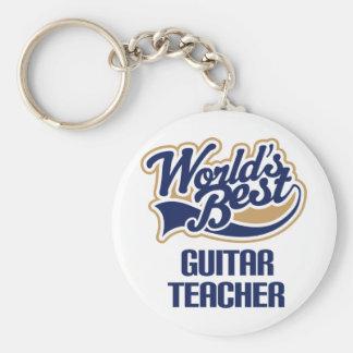 Guitar Teacher Gift Key Ring