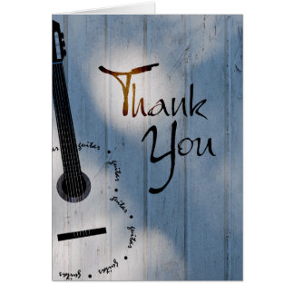 Guitar Thank You Note Card