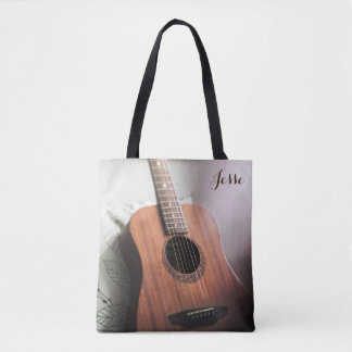 Guitar Tote: Customizable Tote Bag