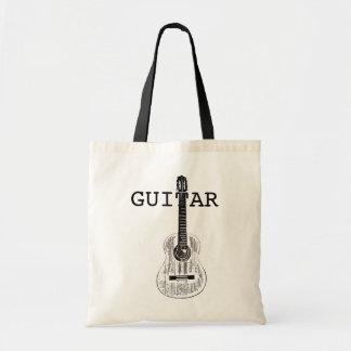 Guitar Tote Shopping Bag