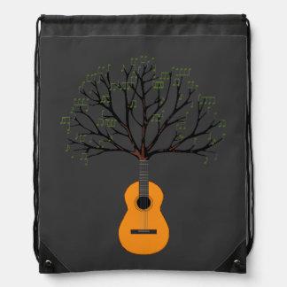 Guitar Tree Drawstring Bag