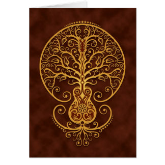 Guitar Tree Golden Brown Card
