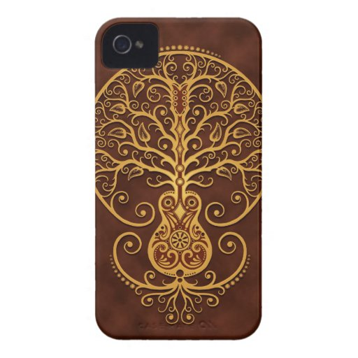 Guitar Tree, Golden Brown Case-Mate Blackberry Case