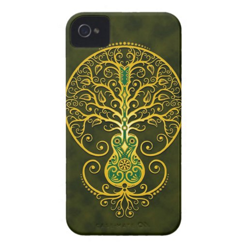 Guitar Tree, Golden Green Blackberry Bold Cases